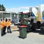 From left; AB Equipment environmental services product and support manager Guy Avery, Delta...