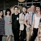 From left, Anika Moa, with Julia Deans and Jon Toogood, both of the Adults, plus Toby Laing and...
