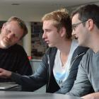 From left, Chris Burgess, Vincent Rijlaarsdam and Beau Murrah, who won the ''Spirit of GovHack''...