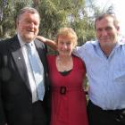 From left: Simon Hayes, Vanessa van Uden and Michael Scott. Photo supplied.