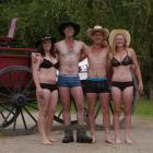 From left, Starz Tairua, Murray Hellewell, Mace Lee and Erin Wilson are pictured getting into the...