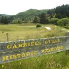 Gabriel's Gully at Lawrence, where the Otago gold rush started in 1861. Photo by Peter McIntosh.
