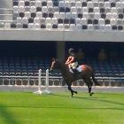 Gabrielle McFarlane rides Cezanne at the Forsyth Barr Stadium this week, to test the strength of...