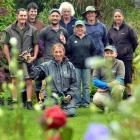 Gardeners at Chatsford retirement village (from left), Brian Ferrier, Chris Ferry,  Margot...