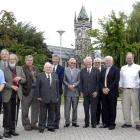 Gathered at the University of Otago yesterday are these holders of the Rutherford Medal, the...