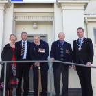 Gathered for a Palmerston RSA life membership ceremony on Saturday are (from left) secretary...