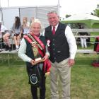 Georgia Davies, stands with American cattle judge Tom Turner at last year's Canterbury A&P Show....