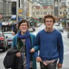 Georgina Hampton  and Alexis Belton want the council to trial blocking off a section of Dunedin's...