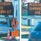 Getting the message: The new electronic traffic sign bought by Central Otago District Council in...