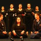 Getting up close during a rehearsal of Sei `O Fafine in the Kavanagh Auditorium yesterday are...
