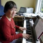 Gillian Whitehead composes at her Dunedin home. Photo by Jane Dawber.
