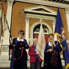 Getting ready to celebrate the First Dunedin Girls Brigade Company 80th anniversary are (from...