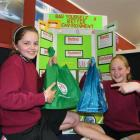 Gleniti School pupils Sophie Chambers (left) and Emily Davies-Martin (both 12) won the...