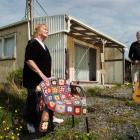 Glenys and Norman Woods at the Kaka Point home of the late Hone Tuwhare, with his favourite...