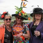 Glenys Rutherford of Omarama, with Jill McCabe and Sylviane Welch, both of Oamaru.