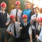 Gore High School outdoors programme participants (standing from left) Matthew Barnett (17), Jan...