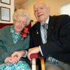 Grace and Fred Shield celebrate their 70th wedding anniversary in Dunedin yesterday. Photo by...