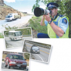 Graeme Buttar uses a camera and telephoto lens to document bad driving in Central Otago. Photo by...