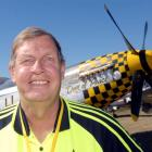 Grahame Fox, of Dunedin, with the North American P51-D Mustang, at Warbirds Over Wanaka on...