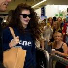 Grammy winning New Zealand music artist Lorde arriving back in Auckland today. Photo / Sarah Ivey