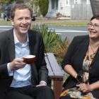 Green Party co-leaders Russel Norman and Metiria Turei relax yesterday in Auckland. Photo by 'The...