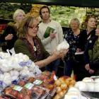 """Green Party MP Sue Kedgley takes a """"Shopping with Sue"""" expedition around Centre City New World to..."""
