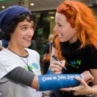 Greenpeace ambassadors Keisha Castle-Hughes and Lucy Lawless launch the latest Greenpeace 'Sign...