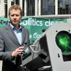 Greens co leader Russel Norman puts the spotlight on government to clean up politics at a media...