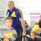 Gregor (4) and Olive (2) are pleased to welcome their dad, Highlanders hooker Jason Rutledge,...