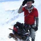 Guide Geoff Wayatt enjoys his 24th visit to the top of Aoraki Mt Cook.  Photo by Philip Somerville.