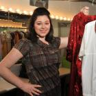 Hairspray lead Amanda Richards checks  her costume wardrobe at the Regent Theatre.  Photo by...