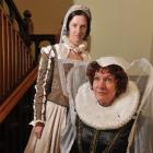 Hannah Grills (left) as a lady in waiting and Ana Good as Mary Queen of Scots. Photo by Gregor...