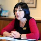 Dunedin City Council strategy and development general manager Kate Styles briefs the media on the...