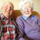 Harry and Edna Hocking celebrate their 65th wedding anniversary on Monday. Photo by Sally Rae.