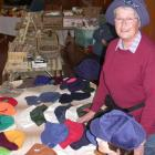 Hat-maker Lorraine Wilson is one of the stallholders at the monthly market at the Oamaru Garrison...