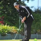 Hawkes Bay golfer Robert Robinson demonstrates his skills on the putting green at the Chisholm...