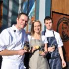 Head baker Christophe Prodel, retail manager Vicki Onions and head chef Stuart Ritchie, with some...