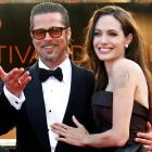 Heading down the aisle . . . Brad Pitt and Angelina Jolie. Photo Reuters