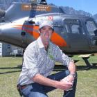 Heli Tours director Paul Mitchell (pictured at the new company's temporary headquarters at...