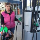 The demand for grocery items has slumped, says Lake Hawea Motors co-owners Suzie Hewson. Photo by...