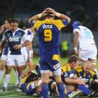 Highlanders captain Jimmy Cowan contemplates his side's 19-15 loss to the Blues at Carisbrook...