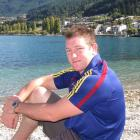 Highlanders prop Chris King takes a break in Queenstown yesterday. Photo by Tracey Roxburgh.