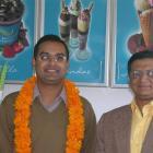 Himanshu Maheshwari, of Manju Enterprises (left), and Flight-lieutenant Sanjiv Jain. Photo by...