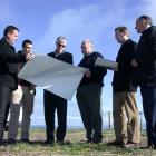 (From left) general manager cement Ross Pickworth, strategy development manager Greg Manson,...