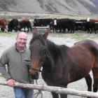 Horse Trekking Company owner David Black with his horse Mojo at the Ben Lomond Station. Mr Black...
