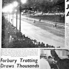 How the <i>Otago Daily Times</i> reported the big night at Forbury Park in 1961. Photo from <i...