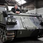HQ 44 South Military Collectors Club member Mark Cameron, with his former British Army 1968 FV432...