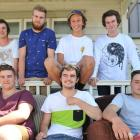 Hyde St residents (back row, from left) Maukino Skelton, Chris Clapham, Alex Battersby and David...