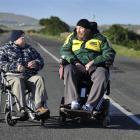Ian Mann (left) and Ken McIntosh have divergent views on the future of Dunedin's John Wilson...