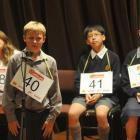 Ian Snow, of John McGlashan College, remains cool as he spells his way to victory at the New...